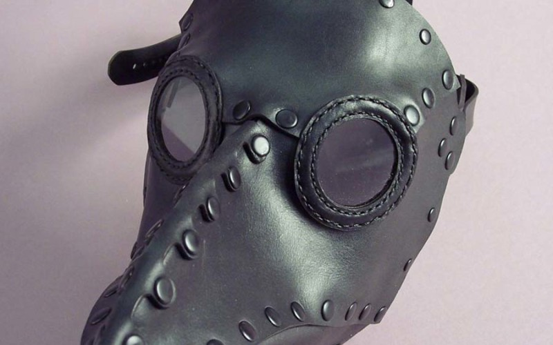 black plague mask