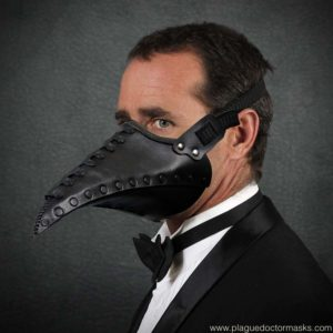 half plague doctor mask