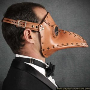 plague doctor mask leather brown