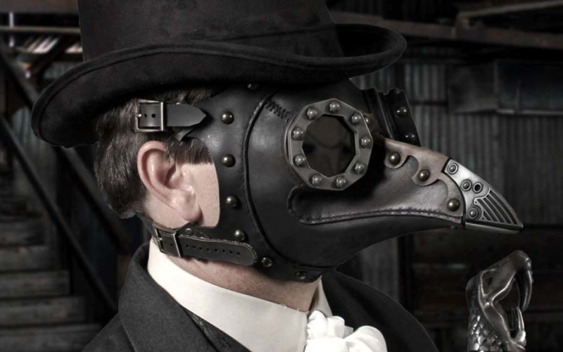steampunk bird mask