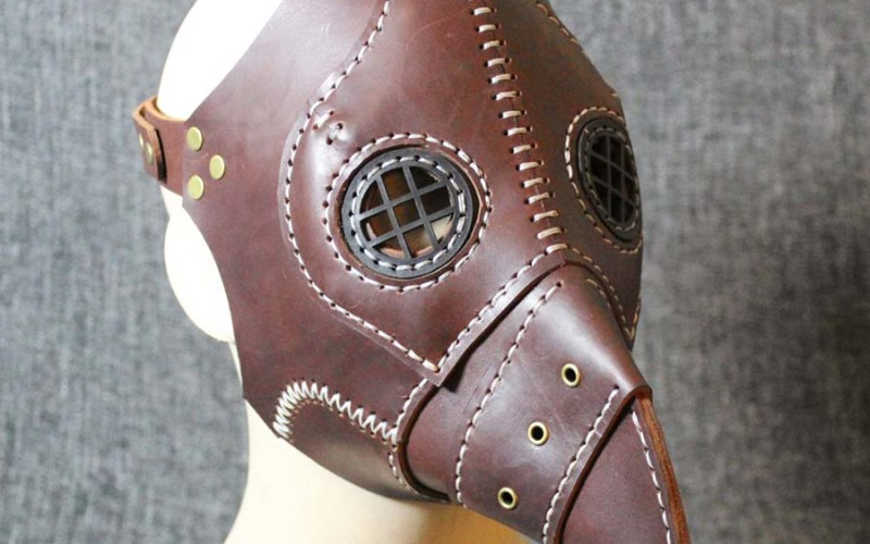 vintage plague doctor mask