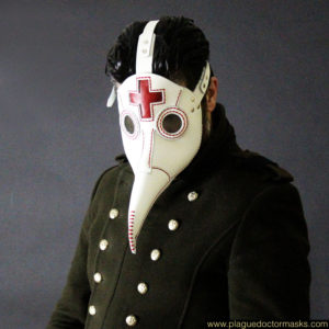 plague mask white
