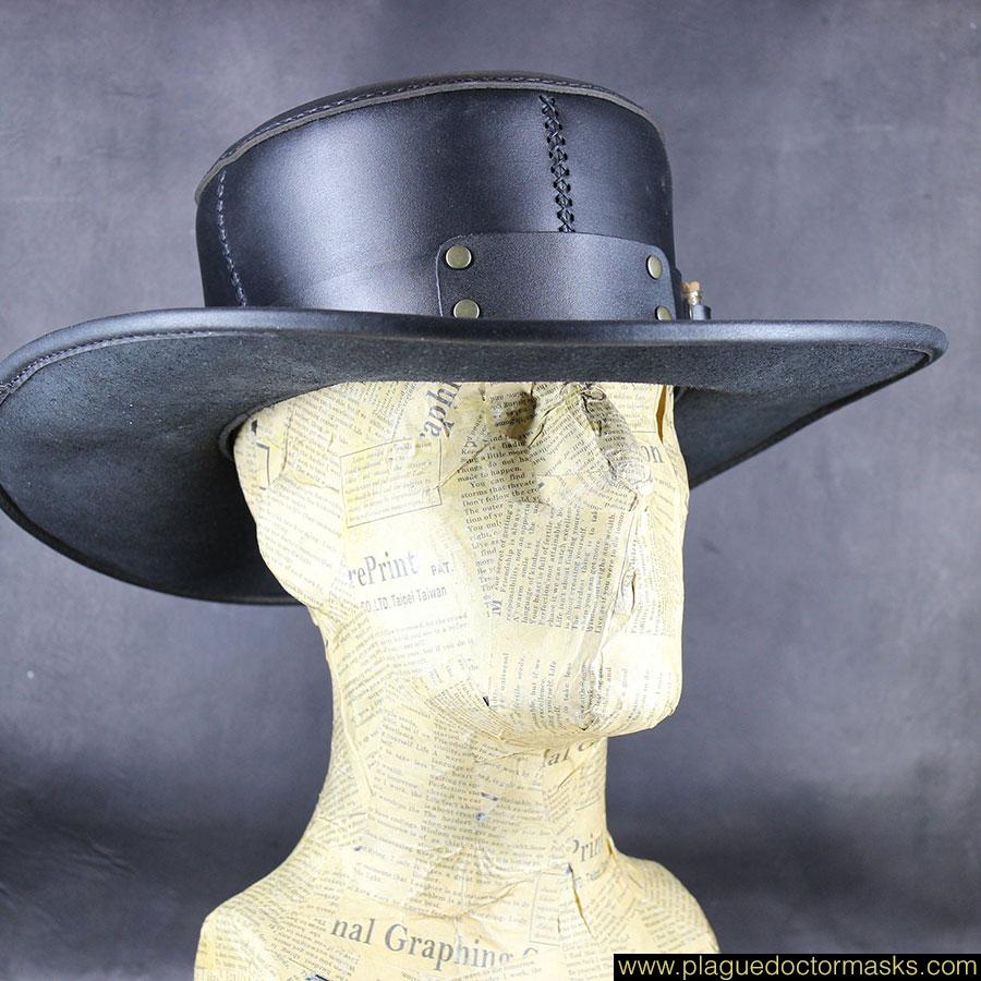 Leather Steampunk Plague Doctor Hat For Sale! Plague