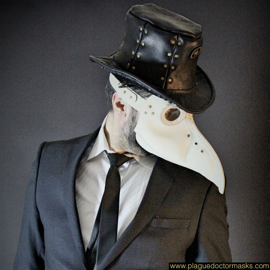 White Plague Doctor Leather Mask For Sale Online Usa Uk Europe