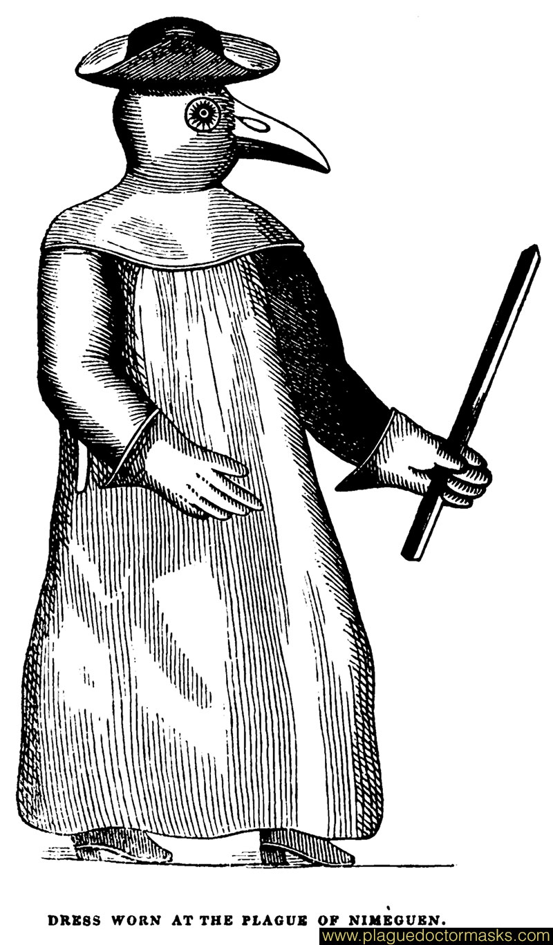 Plague Doctor Costume Clothing Worn By Plague Doctors