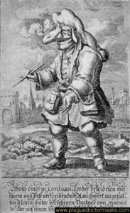 Caricature of a doctor of plague of Marseilles