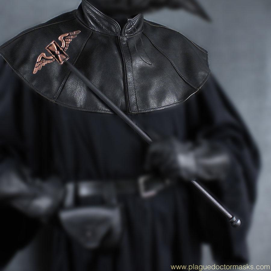Plague Doctor Mantle Shoulder Cape Staff Topper Winged