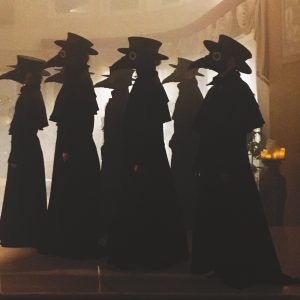 Ghost máscara de médico de la peste